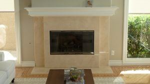 Custom Wrap-Around Fireplace Mantle